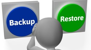 Backup Restore Buttons Showing Data Archive Or Recovery